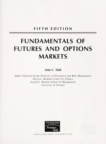 Download Fundamentals of futures and options markets