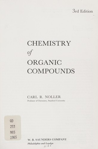 Download Chemistry of organic compounds