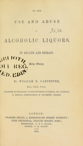 Download On the use and abuse of alcoholic liquors