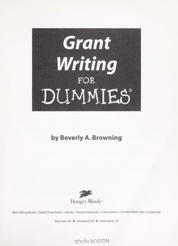 Download Grant writing for dummies
