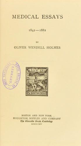 Download Medical essays, 1842-1882