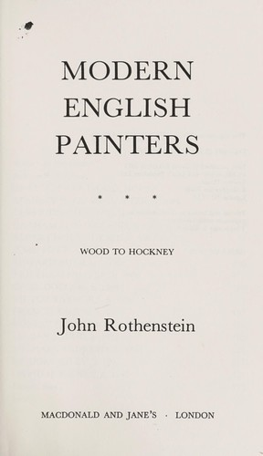 Download Modern English painters
