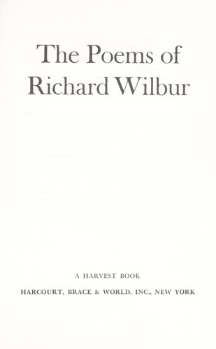 The poems of Richard Wilbur