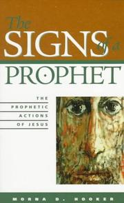 The signs of a prophet by Morna Dorothy Hooker