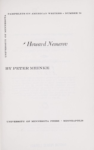 Download Howard Nemerov.