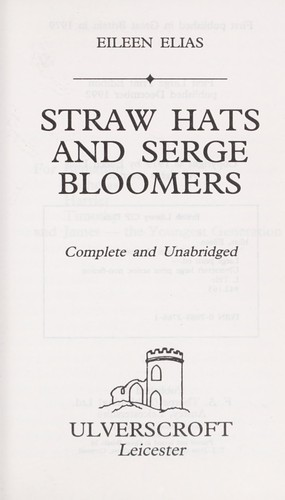 Straw Hats and Serge Bloomers