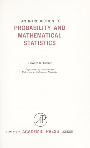 Download An introduction to probability and mathematical statistics.