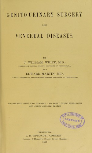 Download Genito-urinary surgery and venereal diseases.