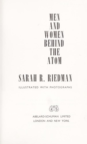 Men and women behind the atom.