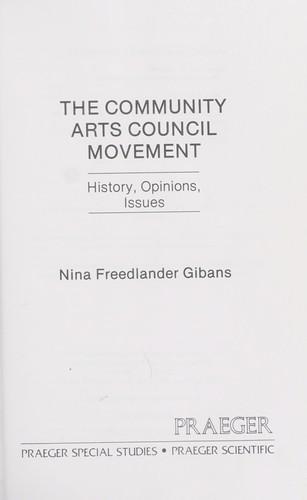 The community arts council movement