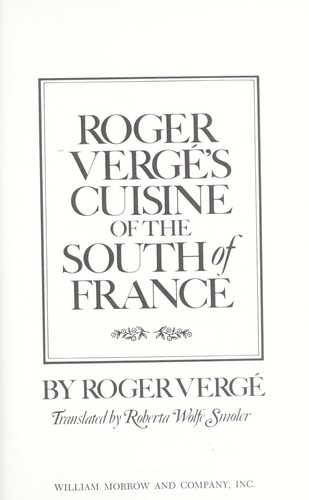 Download Roger Vergé's Cuisine of the South of France