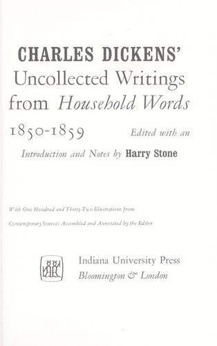 Uncollected writings from Household words, 1850-1859.