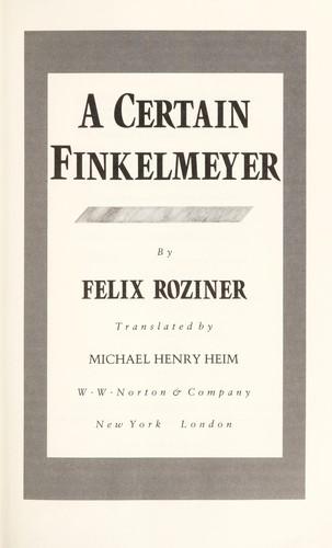 Download A certain Finkelmeyer