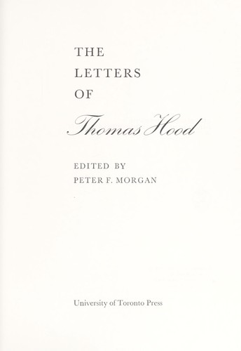 Download The letters of Thomas Hood.