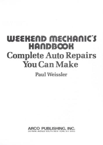Weekend mechanic's handbook