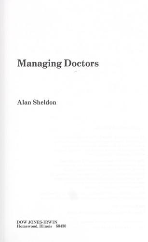 Download Managing doctors