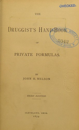 Download The druggist's hand-book of private formulas