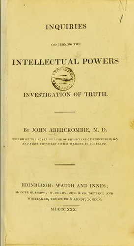 Download Inquiries concerning the intellectual powers and the investigation of truth