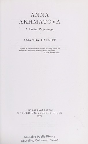 Download Anna Akhmatova