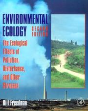 Environmental ecology by Bill Freedman
