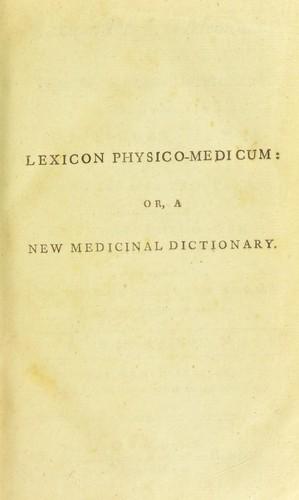 Lexicon physico-medicum