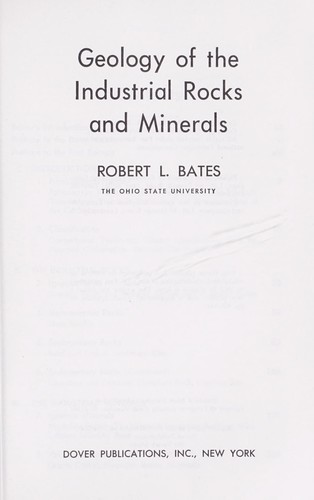 Geology of the industrial rocks and minerals