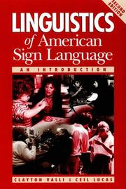 Linguistics of American sign language by Clayton Valli