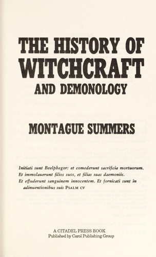 The history of witchcraft and demonology.
