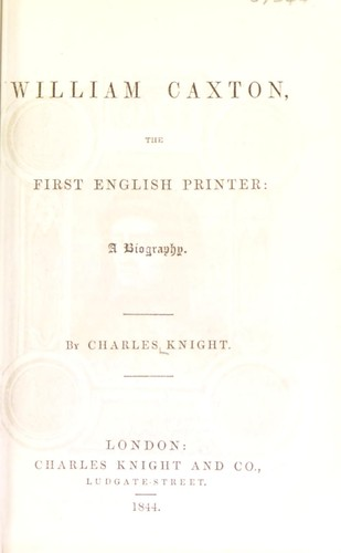 Download William Caxton, the first English printer