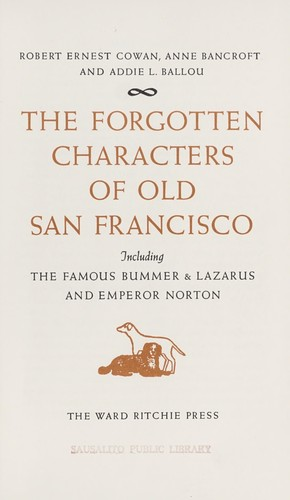 The forgotten characters of old San Francisco