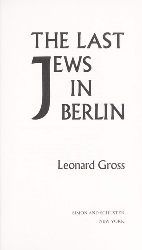 Download The last Jews in Berlin