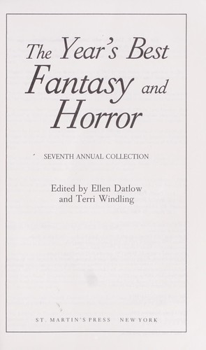 Download The Year's Best Fantasy and Horror