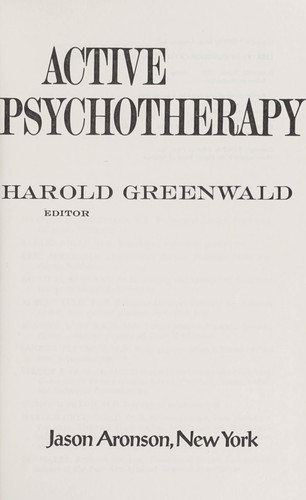 Active psychotherapy.