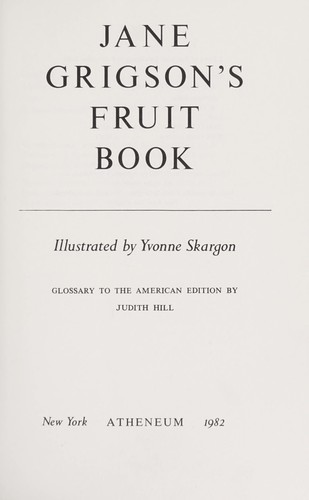 Download Jane Grigson's Fruit book