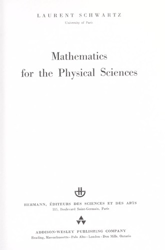 Download Mathematics for the physical sciences.