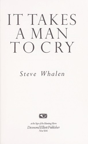 It takes a man to cry