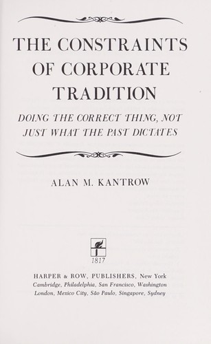 Download The constraints of corporate tradition
