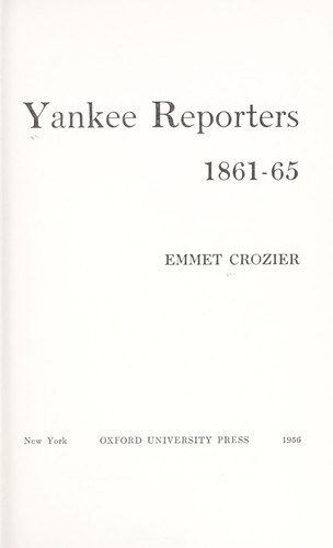 Download Yankee reporters, 1861-65.