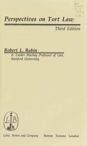 Perspectives on tort law