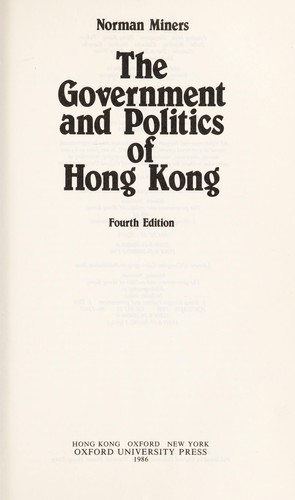 The government and politics of Hong Kong