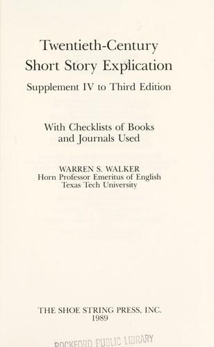 Download Twentieth-century short story explication