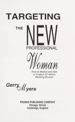 Download Targeting the new professional woman
