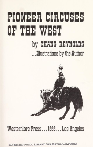 Download Pioneer circuses of the West.
