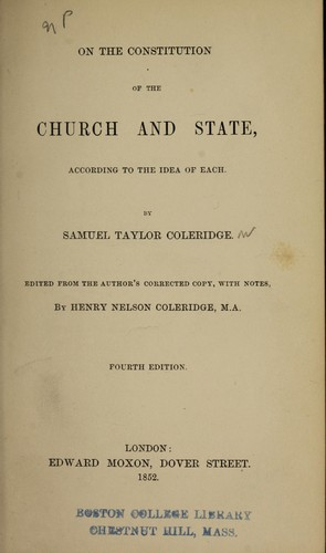 On the constitution of the church and state