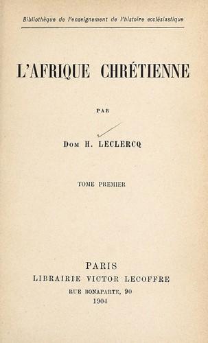 L'Afrique chrétienne