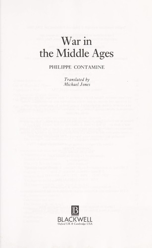 Download War in the Middle Ages