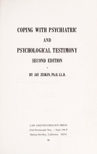 Download Coping with psychiatric and psychological testimony