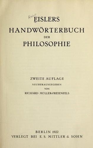 Handwörterbuch der Philosophie.