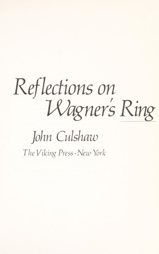 Download Reflections on Wagner's Ring
