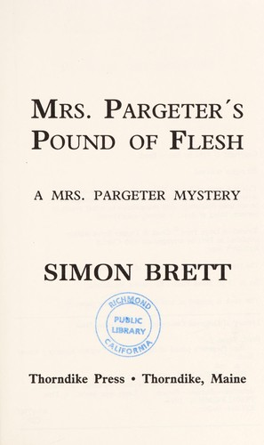 Download Mrs. Pargeter's pound of flesh